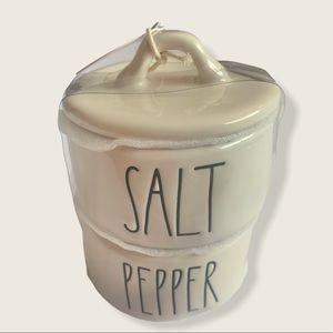 New Rae Dunn Salt & Pepper Stacked Cellars